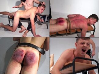 Boy spanking video. Spanking male by belt, cane and whip.