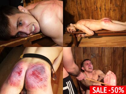 Hardest boy spanking Ildar Russian lad