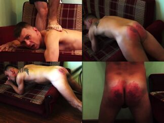 Spanking straight men by martinet and belt