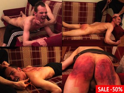 Russian male spanking video