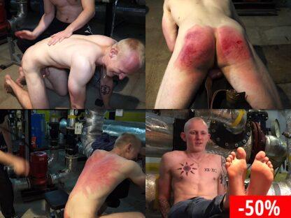 Severe boy spanking video